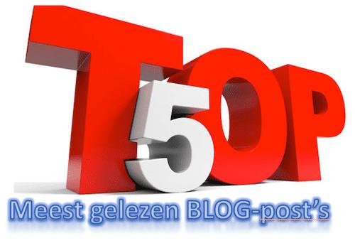 top 5 meest gelezen blog posts